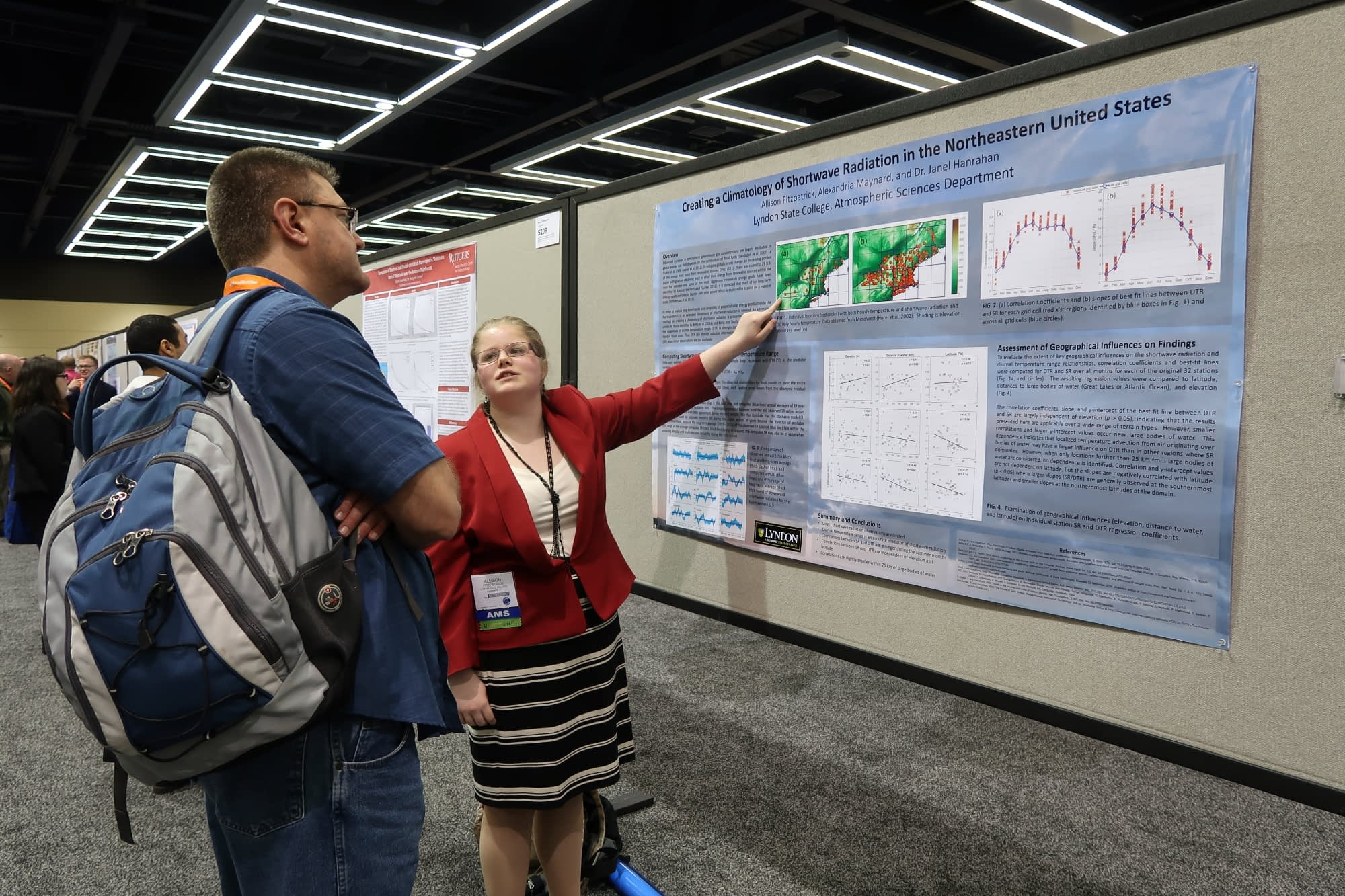 Allison Fitzpatrick explains her co-authored research on Creating a Climatology of Shortwave Radiation in the Northeastern United States