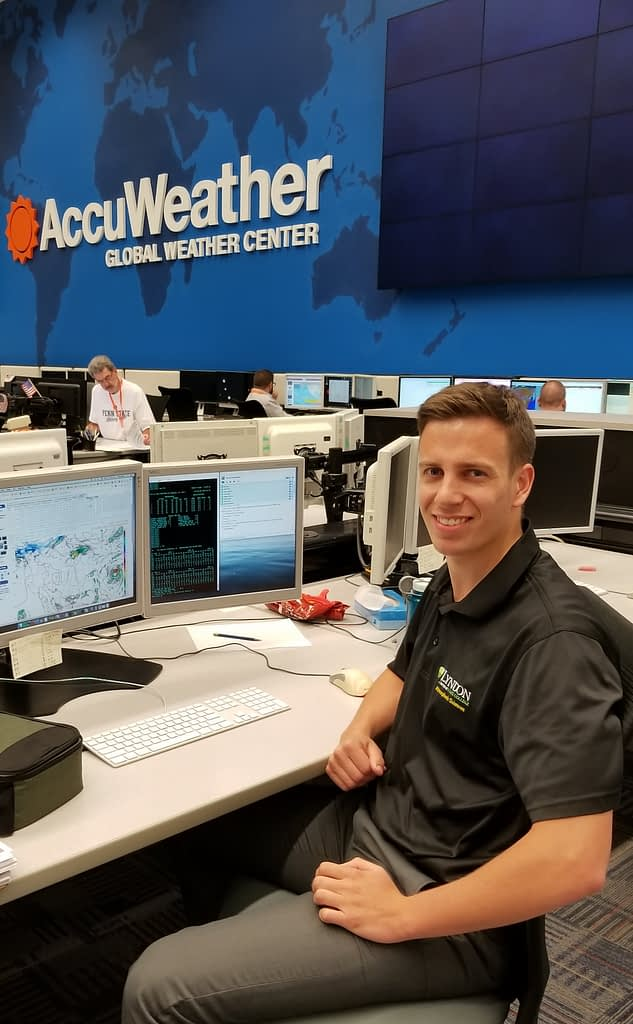 Issac Longley '18, meteorologist at AccuWeather.