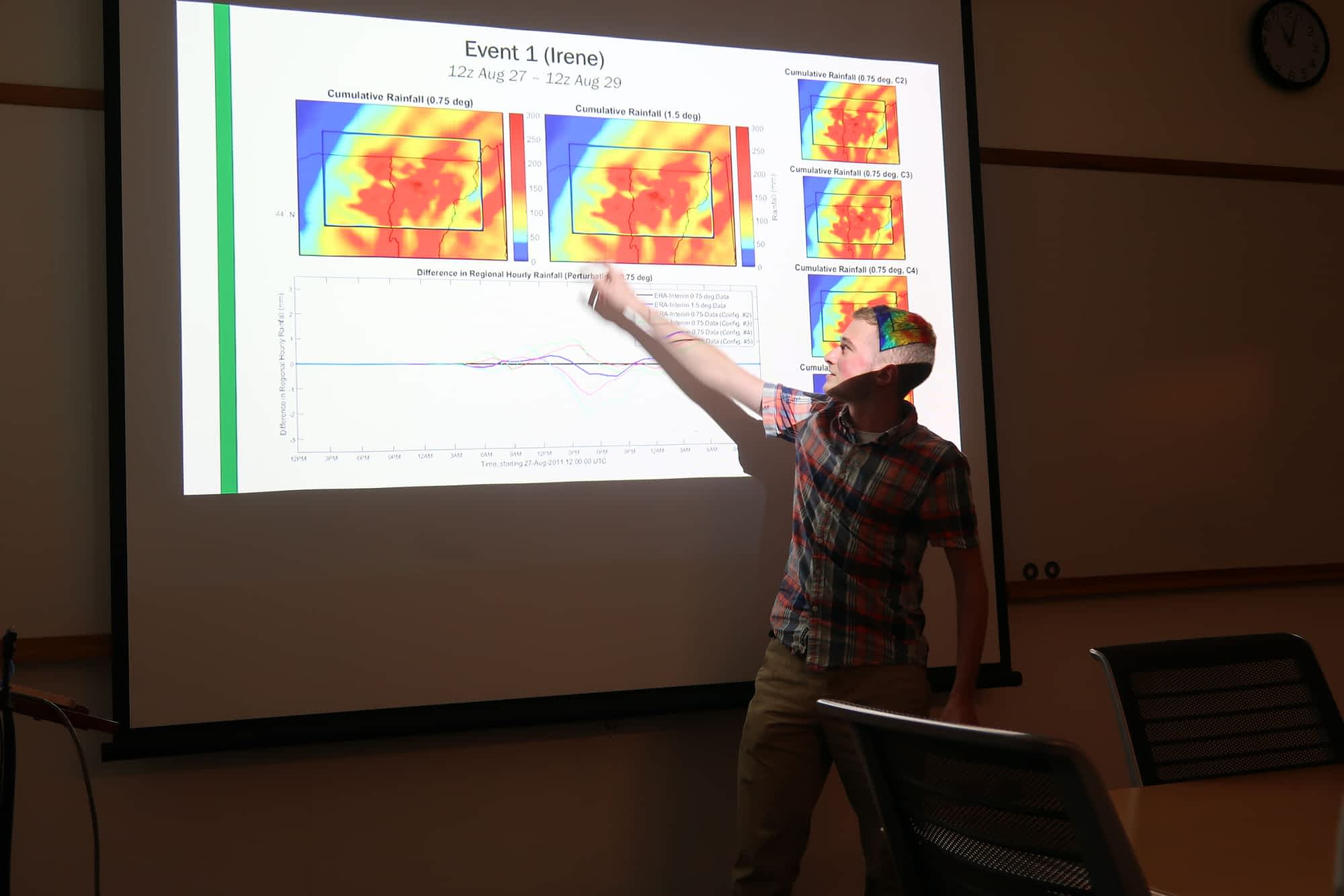 <br>Ben Frechette shows the effect of changing ERA-Interim model resolutions on precipitation during Tropical Storm Irene
