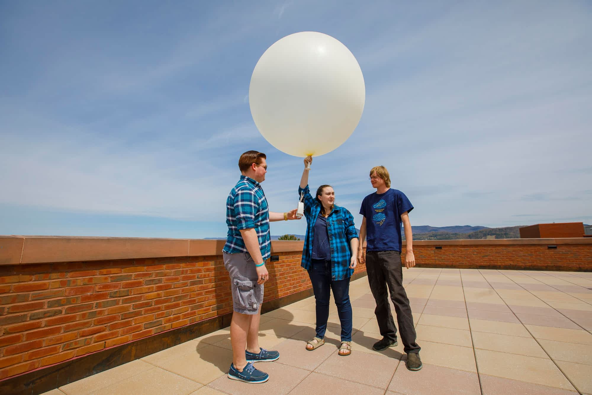 Launching weather balloons