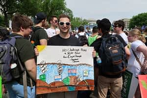 Lyndon State students at the People's Climate March