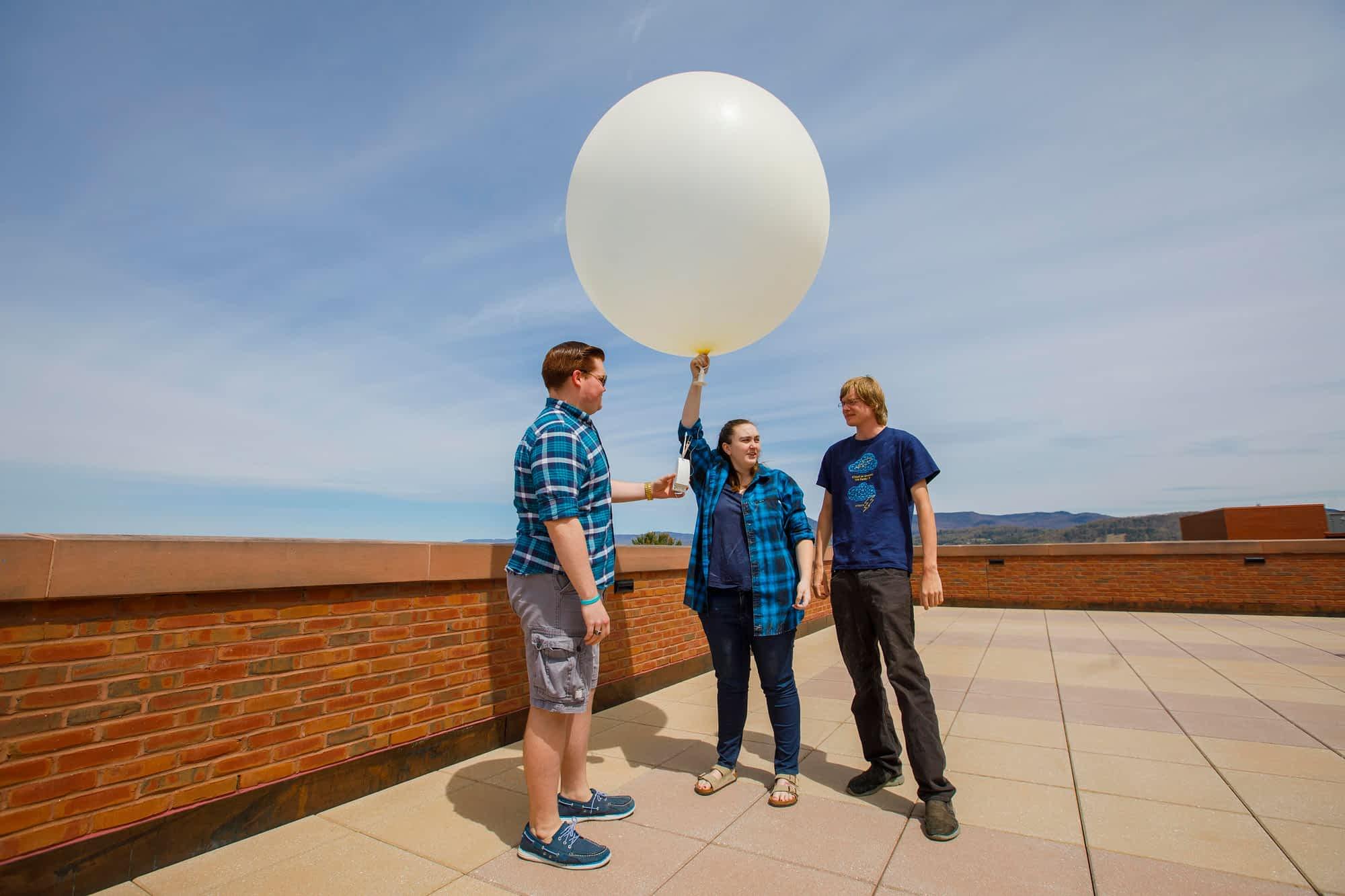 Launching weather balloons